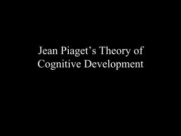Jean Piaget's Theory of Cognitive Development - Psychology