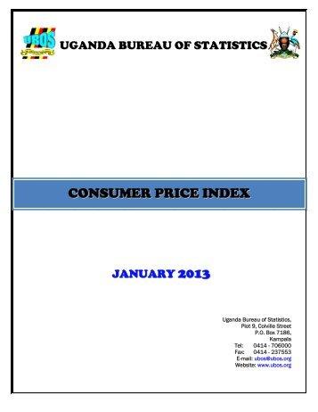 CPI January - Uganda Bureau of Statistics