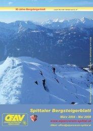 Spittaler Bergsteigerblatt März 2008 - Alpenverein Spittal/Drau