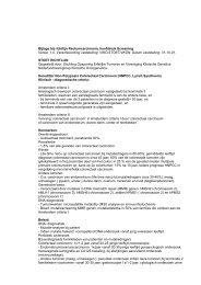 Bijlage bij richtlijn Rectumcarcinoom, hoofdstuk Screening - Oncoline
