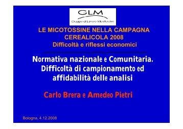 Carlo Brera - Istituto Superiore di Sanità - Gruppo Lavoro Micotossine
