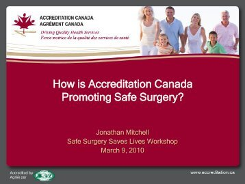How is Accreditation Canada Promoting Safe Surgery?