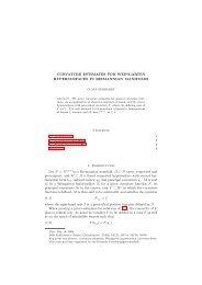 Curvature estimates for Weingarten hypersurfaces in Riemannian ...