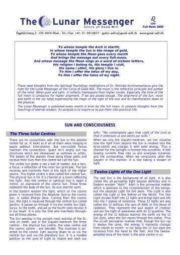 N° VI/1: Sun and Consciousness