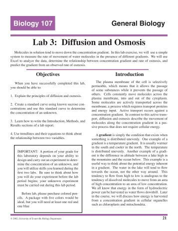 osmosis lab report