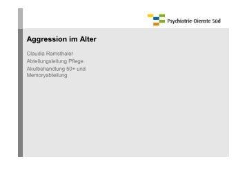 Aggression im Alter - Psychiatrie-Dienste Süd