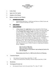 Council Agenda Tuesday, May 20, 2008 - City of St. John's
