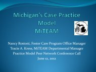 Michigan's Case Practice Model MiTEAM - Muskie School of Public ...