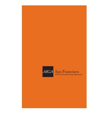 Download Sponsorship Packet. - AIGA San Francisco