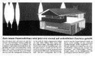 Zum neuen Feuerwehrhaus wird jetzt erst ... - Löffler Architekten