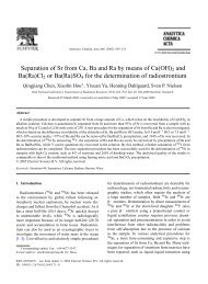 Separation of Sr from Ca, Ba and Ra by means of Ca(OH)2 and ... - F9