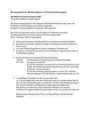 Bewertungskriterien (Bewertungskarten und Teilnahmebedingungen)