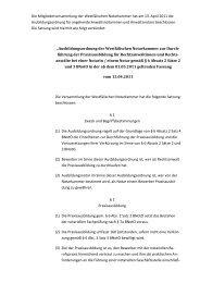 Ausbildungsordnung gem. § 6 Abs. 2 BNotO - Notarkammer
