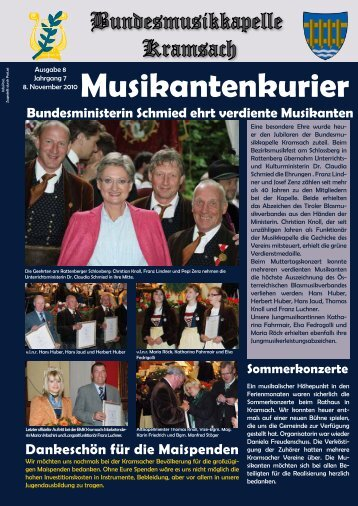 Musikantenkurier - Bundesmusikkapelle Kramsach