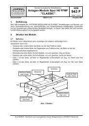 Anlagen-Module Spur H0 FFMF
