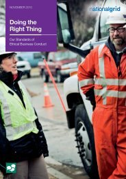 Doing the Right Thing - Our Standards of Ethical - National Grid