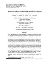 Model Based Document Classification and Clustering - Statistics