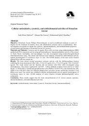 Cellular antioxidative, cytotoxic, and antileishmanial activities of ...