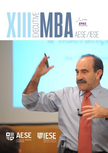 Download da brochura do Executive MBA AESE/IESE