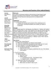 Structure and Function of the Judicial Branch - Career and Technical ...