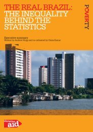 thE REal BRazil: thE inEquality BEhind thE statistics - Christian Aid