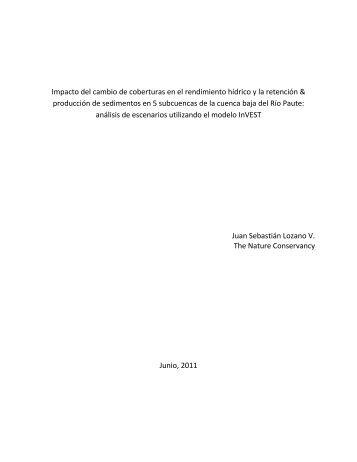 Impacto del cambio de coberturas en el rendimiento hídrico y la ...