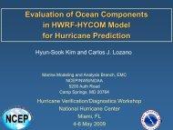 Ocean parameters for hurricane prediction and diagnostics - HFIP