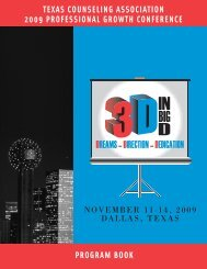 Conference Program Book - Texas Counseling Association
