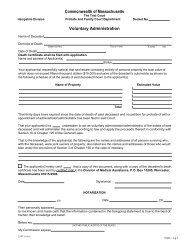 Commonwealth Of Massachusetts - Hampshire County Probate and ...