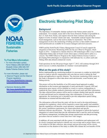 Electronic Monitoring Pilot Study - National Marine Fisheries Service ...