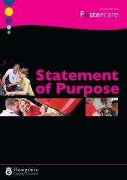 Fostercare State of purp.indd - Hampshire County Council