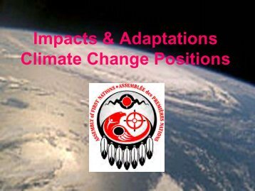 Impacts & Adaptations Climate Change Positions - GLERL