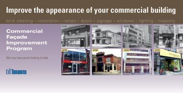 Improve the appearance of your commercial building - Waterfront BIA