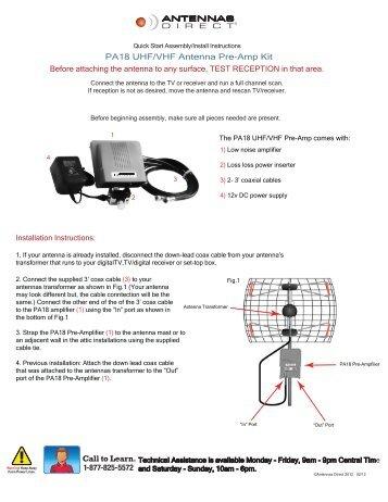 PA18 UHF/VHF Antenna Pre-Amp Kit - Antennas Direct