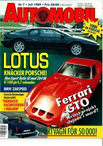 Nr 7 . Juli 1989 o Pris 28:OO (inkl moms) - Svenska M3 E30 Registret
