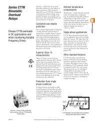 CT7N Bimetallic Thermal Overload Relays for Motor ... - E-Catalog