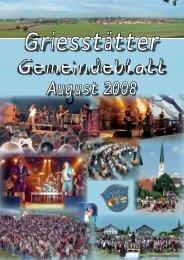 Gemeindeblatt August 2008 - Griesstätt