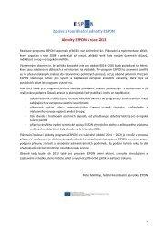 Newsletter 29 - Ústav územního rozvoje