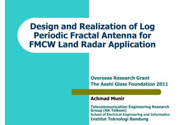 Design and Realization of Log Periodic Fractal Antenna for FMCW ...