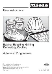 User instructions Baking, Roasting, Grilling Defrosting, Cooking ...