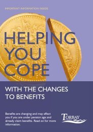 Helping you cope with the changes to Benefits - Torbay Council