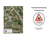 Pjece vedr. trafikale forhold ved Skærbæk Distriktsskole