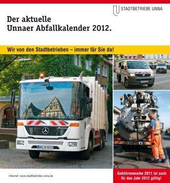 Der aktuelle Unnaer Abfallkalender 2012. - Stadtbetriebe Unna
