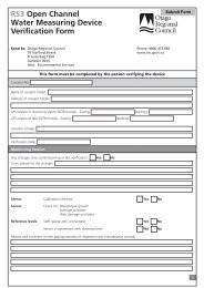 RS3 Open Channel Water Measuring Device Verification Form