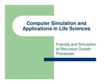 6. Fractals and Simulation of Recursive Growth Processes