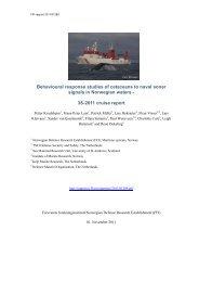 Behavioural response studies of cetaceans to naval sonar signals in ...