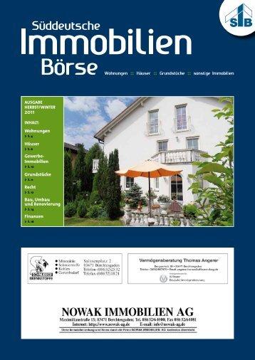 Immobilienzeitung Herbst 2011 - Nowak Immobilien AG