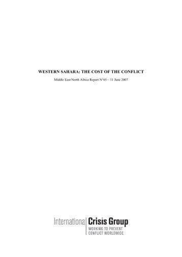 western sahara: the cost of the conflict - International Crisis Group