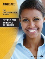 SPRING 2012 - University of Maryland University College