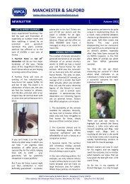 Autumn 2011 newsletter - RSPCA Manchester & Salford